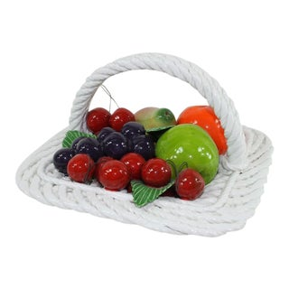 1980s Capodimonte Fruit Bowl For Sale