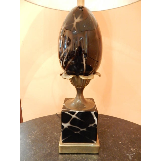Mid-Century Modern Vintage Ceramic French Table Lamp For Sale - Image 3 of 5