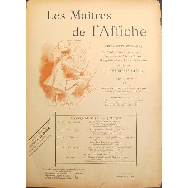 1890s French Art Nouveau Maitres De l'Affiche Poster, Price List \ Cover by Jules Cheret For Sale - Image 4 of 4