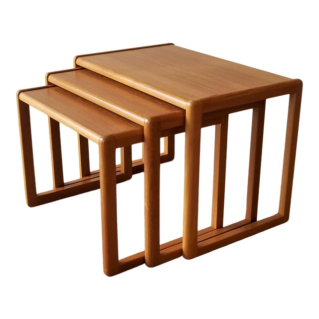 1960's Danish Teak Nesting Tables - Set of 3 For Sale