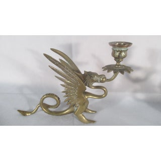 Antique Chinese Dragon Candle Holders - a Pair Preview
