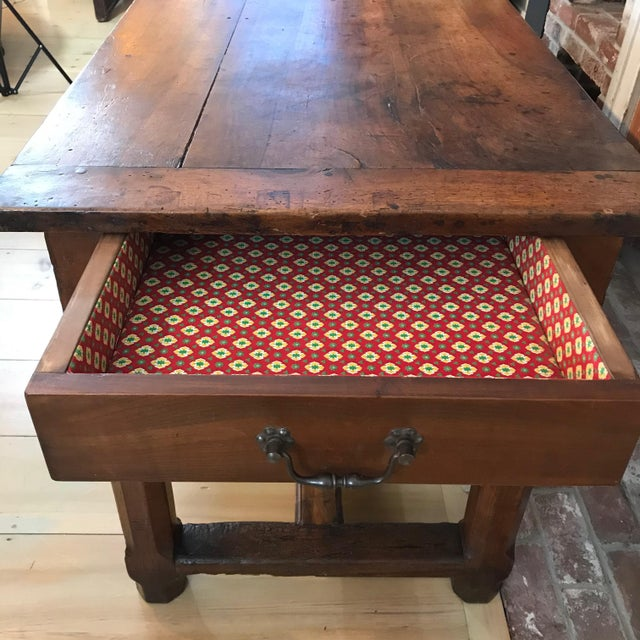 French 19th Century Walnut Farmhouse Table From Provence For Sale - Image 12 of 13