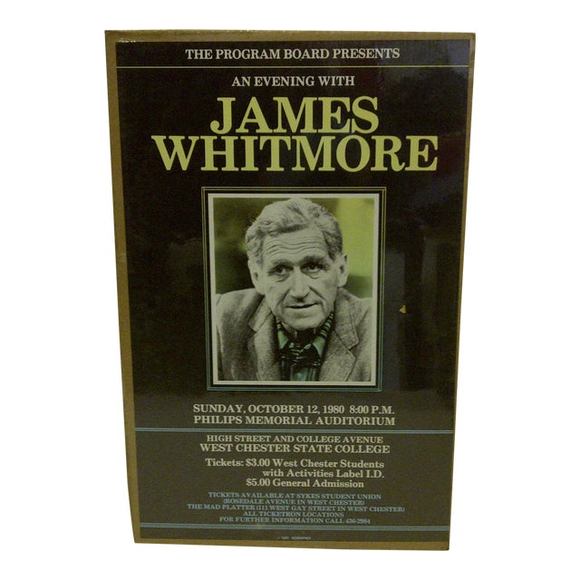 "Vintage ""James Whitmore"" College Show Poster - Image 1 of 4"