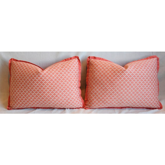 "Italian Marion Fortuny Canestrelli Feather/Down Pillows 23"" X 17"" - Pair For Sale In Los Angeles - Image 6 of 13"