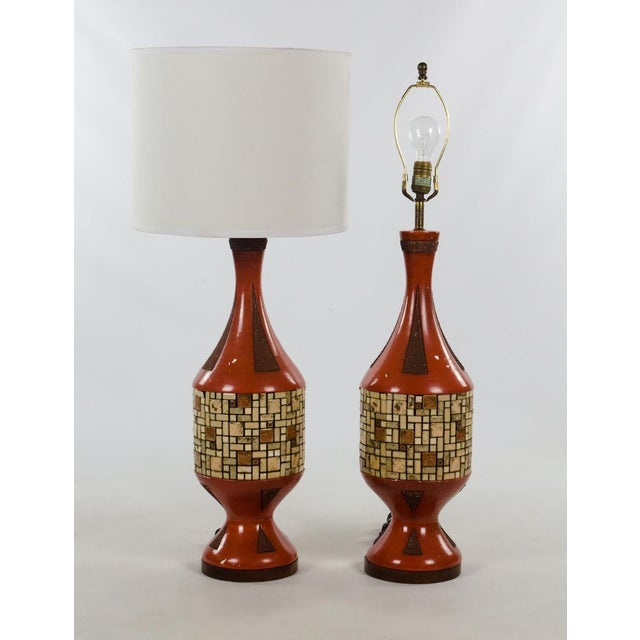 Mid-Century Ceramic and Tile Westwood Table Lamps - a Pair For Sale - Image 13 of 13
