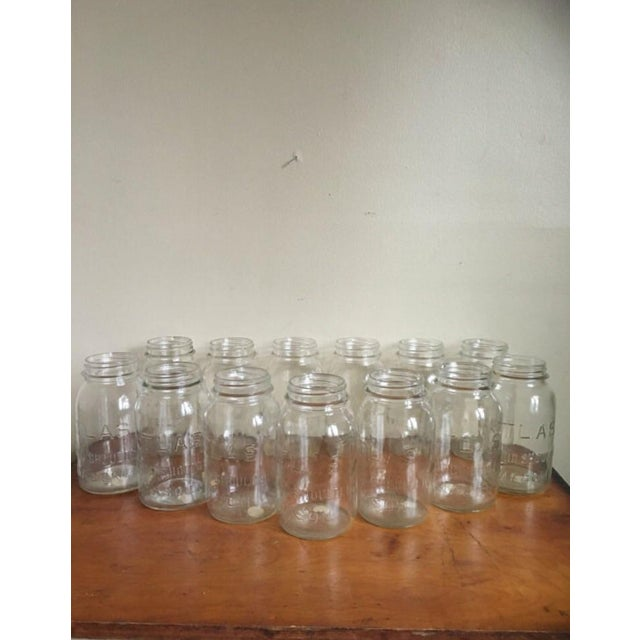 Vintage Atlas Mason Jars - Set of 13 - Image 3 of 4