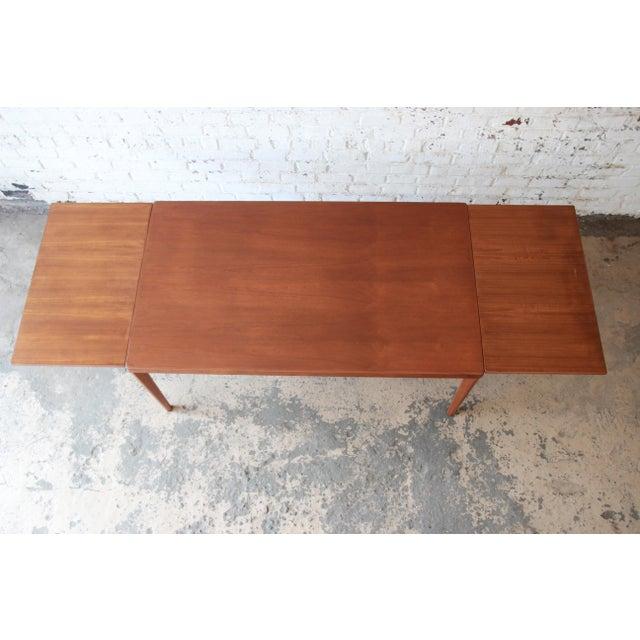Henning Kjaernulf for Vejle Stole Danish Modern Teak Extension Dining Table - Image 8 of 10