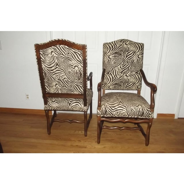 19th Century Louis XIII Style Armchairs - a Pair For Sale - Image 4 of 5