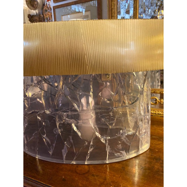 1960s Mid-Century Modern Acrylic and Brass Curved Coffee Table For Sale - Image 9 of 12