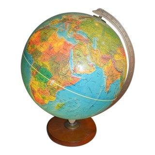Vintage World Globe Light For Sale