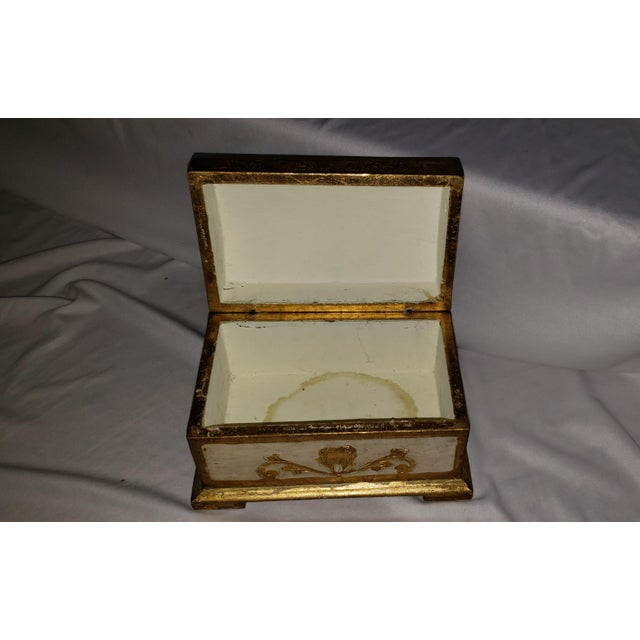 Italian Florentine Treasure Chest Trinket Box For Sale - Image 4 of 5