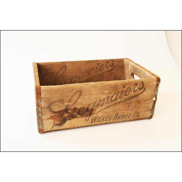 Vintage Rustic Stegmaier's Brewery Wood Crate For Sale - Image 11 of 11