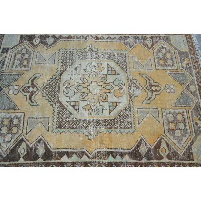 Antique Tribal Faded Rug - 3′11″ × 5′7″ For Sale - Image 5 of 6