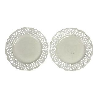 Swedish Creamware Plates, Pair For Sale