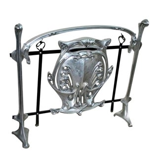 Hector Guimard French Art Nouveau Paris Metro Style Entrance Gate Shield Firescreen For Sale