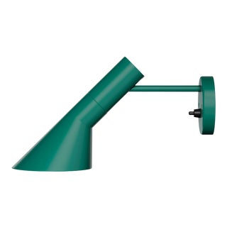 Arne Jacobsen AJ Wall Light for Louis Poulsen in Dark Green For Sale