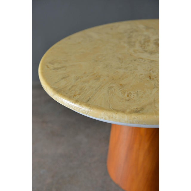 1960s 1965 Vintage Frank Rohloff for Brown Saltman Stone Occasional Table For Sale - Image 5 of 8