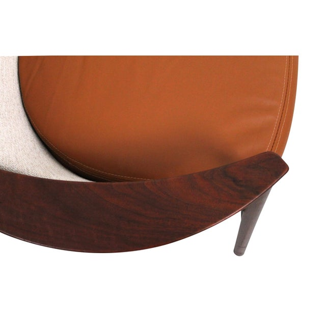 Kofod-Larsen for Selig Sculptural Walnut Lounge Chairs - a Pair For Sale - Image 11 of 13