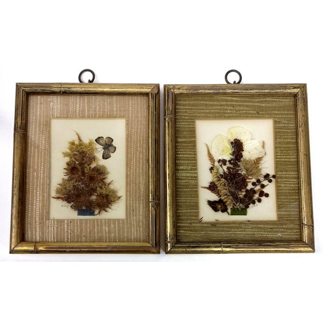 Mid-Century Botanical Flower Art Pieces - A Pair - Image 2 of 7