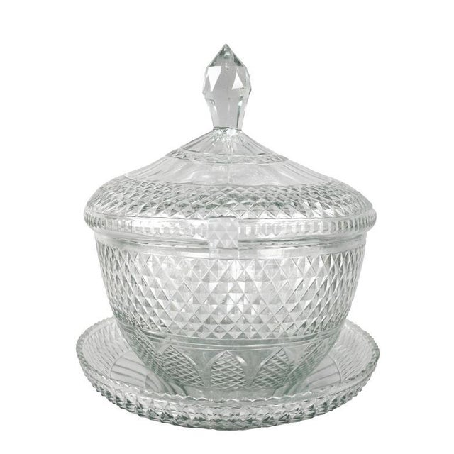 Anglo Irish Cut-Glass Covered Tureen and Underplate For Sale - Image 5 of 10