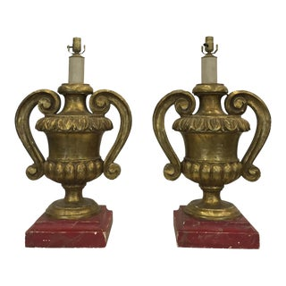 French Finial Lamps - a Pair