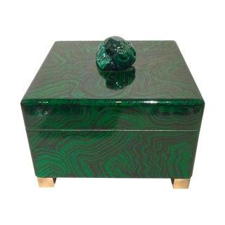 1930s Hollywood Regency Green Malachite Box