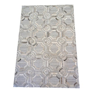 Patchwork Cowhide Dorado Rug by Loloi For Sale
