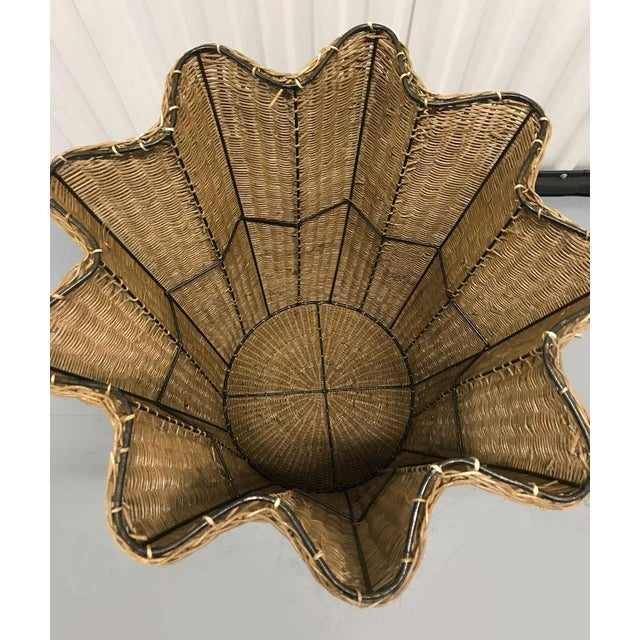 """1970s Vintage Wicker Trompe l'Oeil """"Draped"""" Table For Sale - Image 5 of 12"""