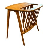 Image of 1960s Mid-Century Modern Arthur Umanoff Side Table With Magazine Rack For Sale