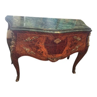 French Louis XV Style Marble Commode For Sale