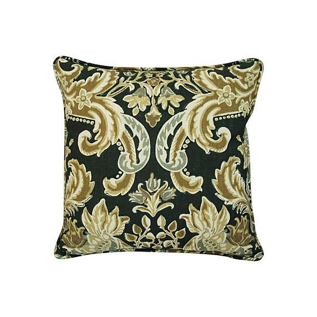Custom Designer Kravet Lutron Old World Linen Pillows - Pair - Image 6 of 8