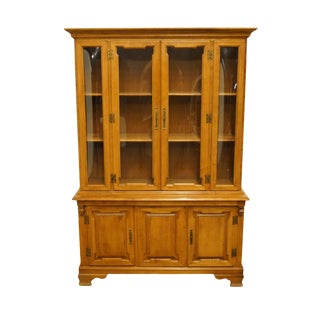 Tell City Colonial Style Maple China Cabinet For Sale