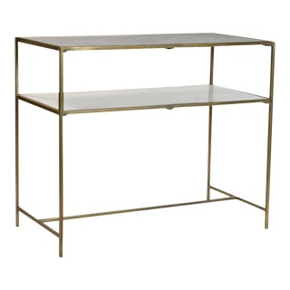 Brass & Marble Console Table