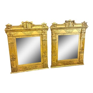Pair of Late 18th Century French Directoire Gilt Mirrors For Sale