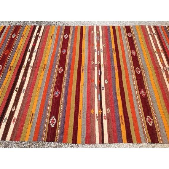 Vintage Turkish Kilim Rug - 5′10″ × 10′7″ - Image 4 of 6