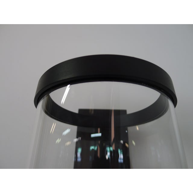 Black Contemporary Hurricane Sconces Shorter Hurricane by Paul Marra - a Pair For Sale - Image 8 of 9