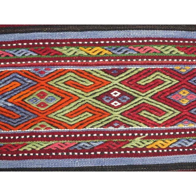 """Textile Vintage Turkish Kilim Rug-2'2'x4'2"""" For Sale - Image 7 of 13"""
