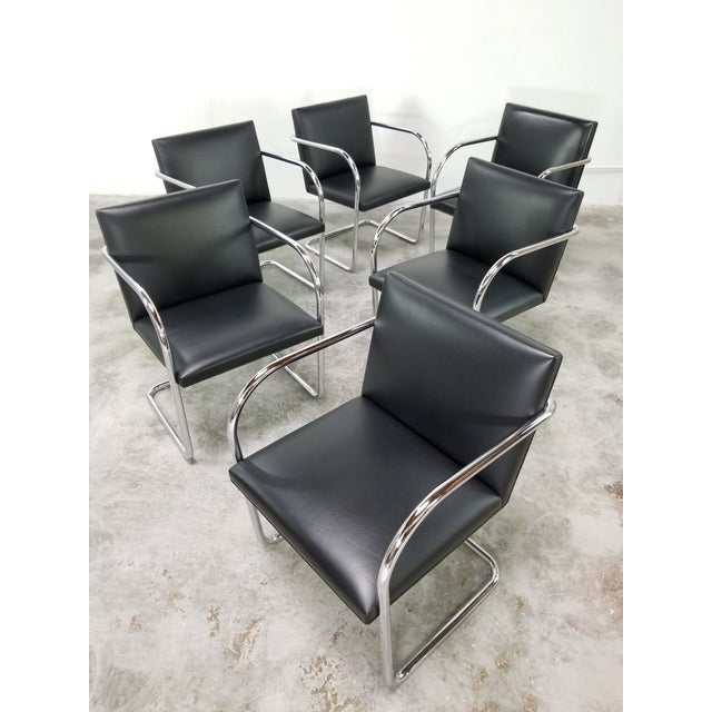 Stunning! excellent condition on these original Classic Knoll stainless steel set of 6 chairs. No damage, No rips, No...