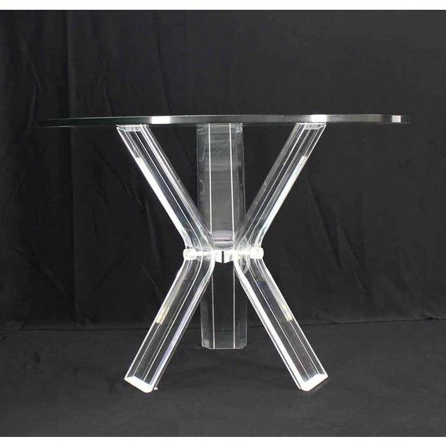Mid-Century Modern Lucite Four Chairs Table Dinette Set For Sale - Image 3 of 9