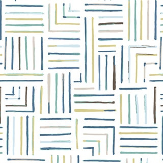 House of Harris Milledge Wallpaper, 30 Yards, Blue For Sale