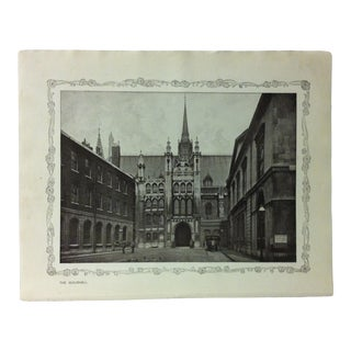 """1906 """"The Guildhall"""" Famous View of London Print For Sale"""