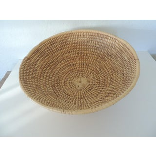 Large Round Woven Seagrass Decorative Basket Preview