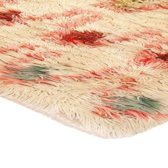 Textile Vintage Swedish Pile Rya Rug by Ingrid Hollman Knafve For Sale - Image 7 of 8