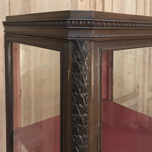 Late 19th Century 19th Century French Louis X Collector's Vitrine For Sale - Image 5 of 13
