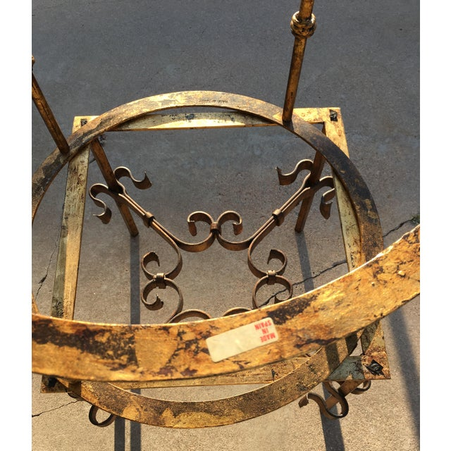 Spanish Gilt Iron Side Tables - Set of 2 For Sale - Image 11 of 13