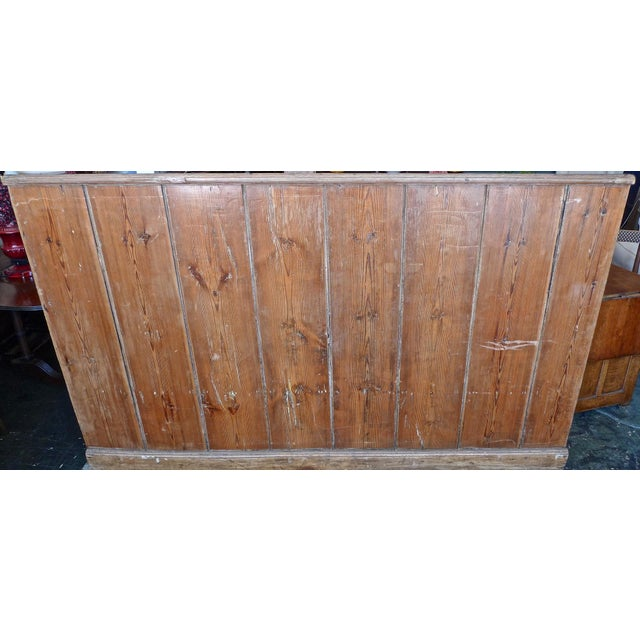 19th Century English Stained Pine Church Pew For Sale - Image 10 of 12
