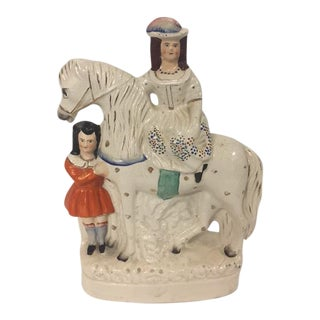 Staffordshire Lady on Horse Figurine