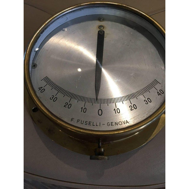 Italian Midcentury Brass Ship's Clinometer For Sale - Image 4 of 7
