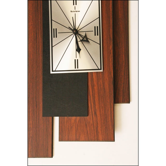 1960s Danish Modern George Nelson Style Wall Clock - Image 3 of 11