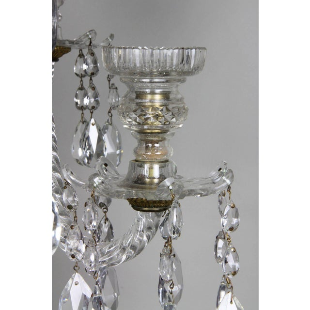 Glass Anglo Irish Cut Glass Chandelier For Sale - Image 7 of 9